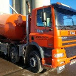 Our 8 metre mixer loading for a delivery